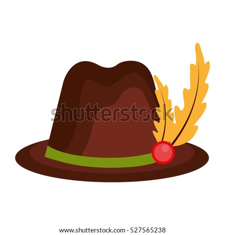 hat germany isolated icon