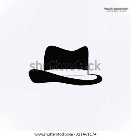 Hat icon - stock vector