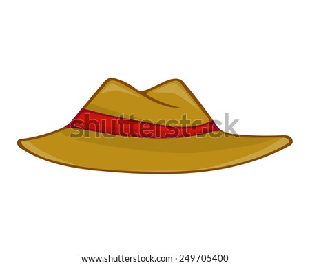 hat isolated illustration on white background
