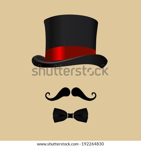 hat of intelligent person - stock vector