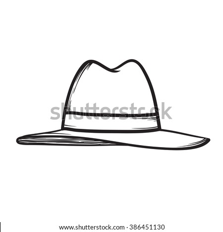 Hat vector hand drawn icon