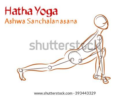 Hatha Yoga Ashwa Sanchalanasana