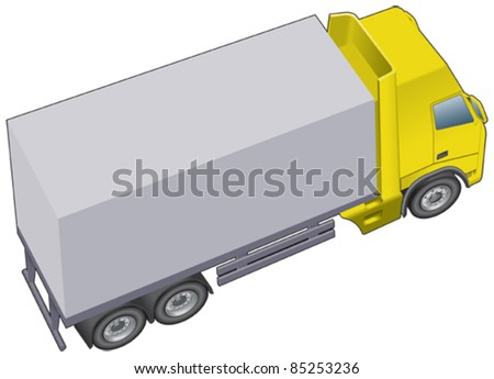 Haulage, lorry or truck shorter version - stock vector