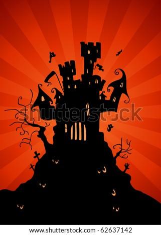 Haunted Castle - stock vector