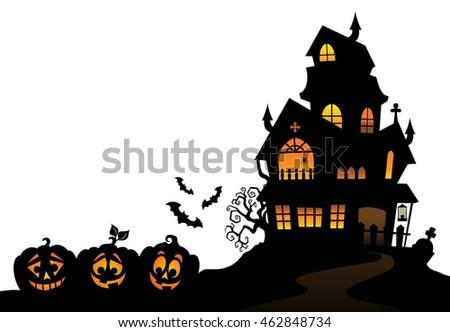 haunted mansion stock vectors images vector art. Black Bedroom Furniture Sets. Home Design Ideas