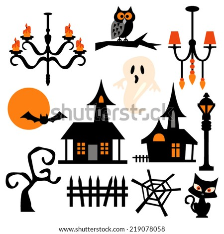 Haunted house silhouette art project