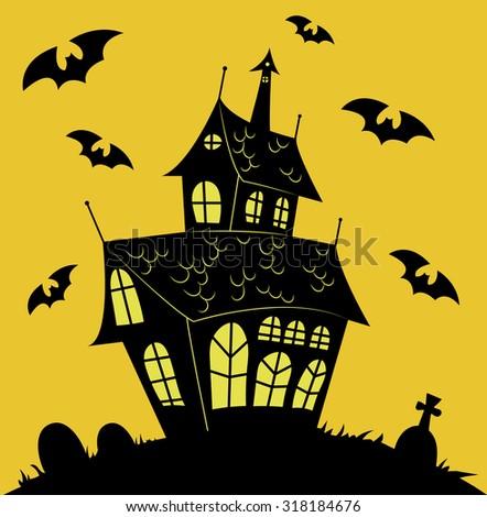 haunted house vector stock photo photo vector illustration rh shutterstock com haunted house victor ny haunted house vector free