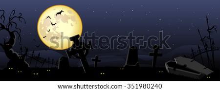 Haunting Halloween Background - stock vector