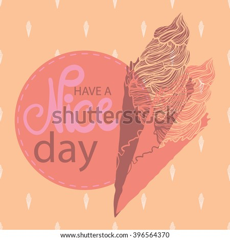 Have nice day greeting card vector stock vector hd royalty free have a nice day greeting card vector abstract decorative background wallpaper m4hsunfo
