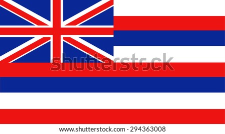 Hawaii state national flag. Vector EPS8 - stock vector