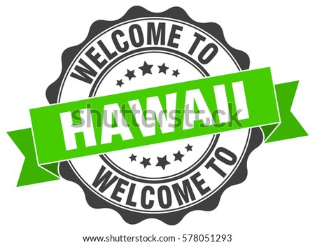 Hawaii Welcome To Stamp