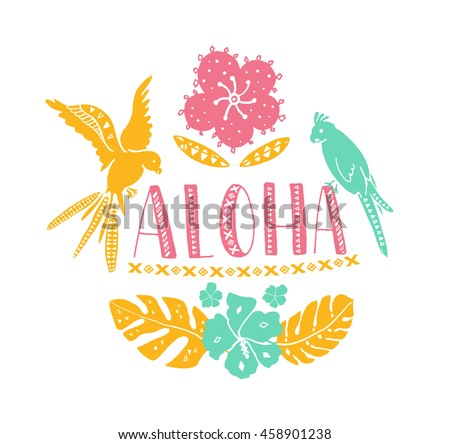 greeting and word aloha The hawaiian language contains only 13 letters, - five vowels, seven consonants and the 'okina, which is called a 'glottal stop' in english the okina indicates a break in the sound when the word is spoken, like the break when you say uh oh in english.