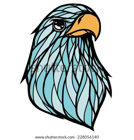 Hawk Head Stock Vector 228056140 - Shutterstock