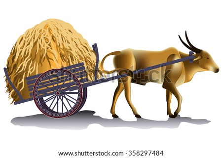 Cow Cart Clipart Ox Cart Stock Images, ...