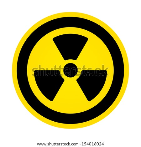 Hazard radioactivity sign - stock vector