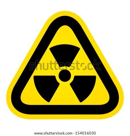 Hazard radioactivity sign - stock vector