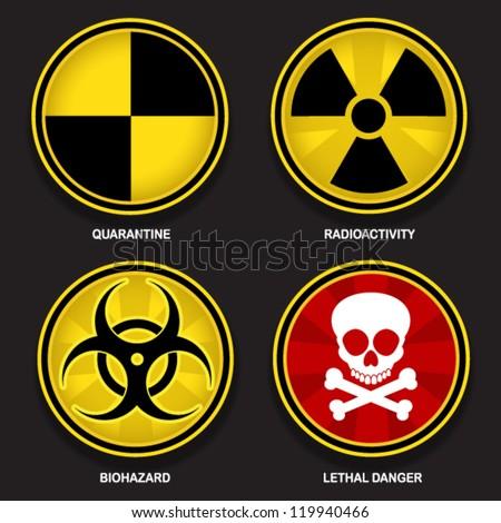 Hazard Symbols Stock Vector 119940466 Shutterstock