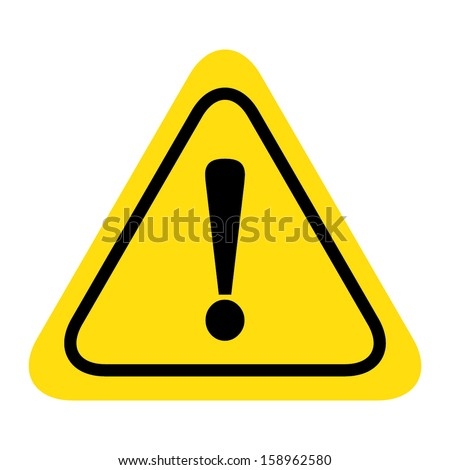Hazard warning attention sign vector - stock vector