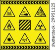 Hazard Warning Signs 5 - stock vector