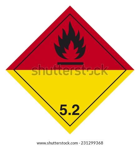 Hazardous pictogram - stock vector