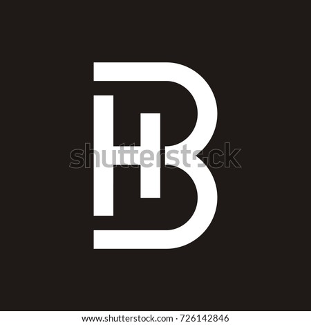 Bh Design hb bh initial letter logo design stock vector 726142846