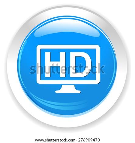 hd display icon - stock vector