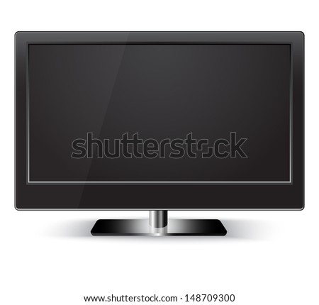 HD Television. Isolated  - stock vector
