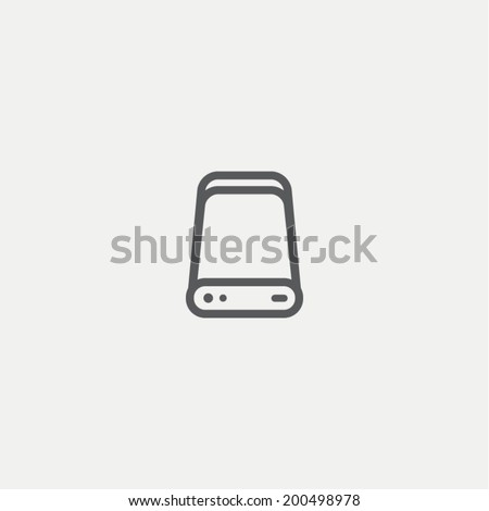 HDD icon - stock vector
