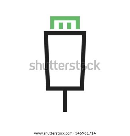 HDMI, cable, connect icon vector image. Can also be used for material design. Suitable for use on web apps, mobile apps and print media - stock vector
