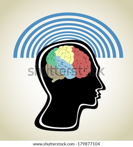 Head and Brain - stock vector