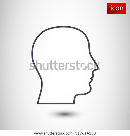 head , icon. Vector  Eps 10
