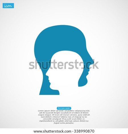 head icon. Vector  Eps 10