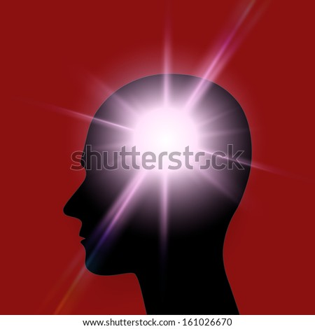 Head idea. Ideas design over red background vector illustration.