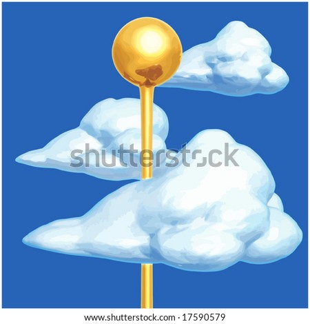 Head In The Clouds - stock vector