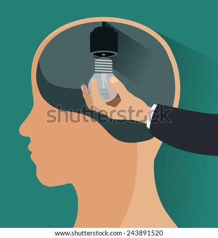 head lamp idea - stock vector