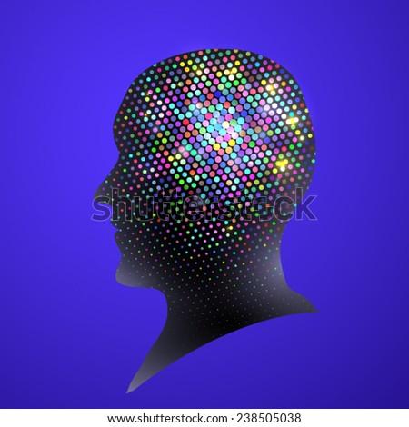 head minde - stock vector