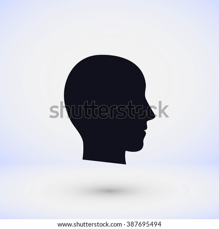 head vector icon