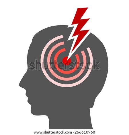 Headache vector icon - stock vector