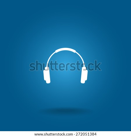 headphone icon - stock vector