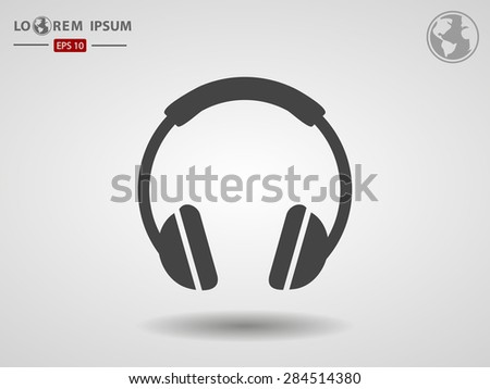 headphone icon - stock vector