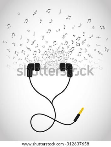 headphone icon design, vector illustration eps10 graphic  - stock vector