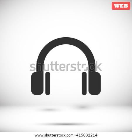 Headphone Icon, headphone icon flat, headphone icon picture, headphone icon vector, headphone icon EPS10, headphone icon graphic, headphone icon object, headphone icon JPEG, headphone icon picture - stock vector
