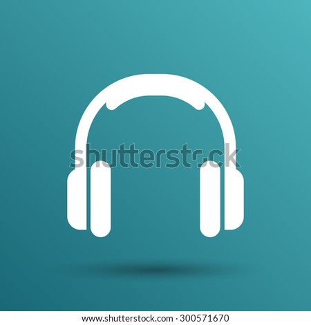 headphone icon vector music isolated hear funky white stereo. - stock vector