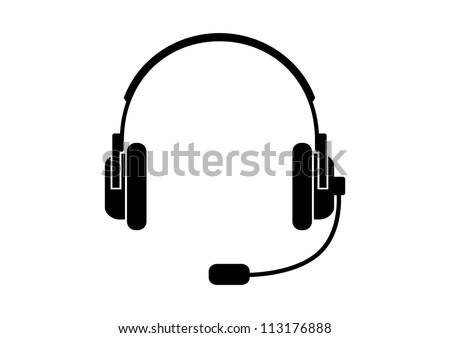 Headphones icon - stock vector