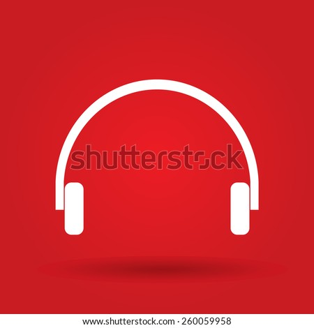 headphones icon, vector illustration. - stock vector