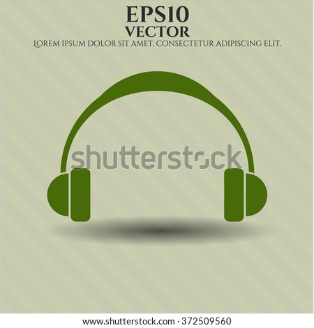 Headphones icon vector illustration