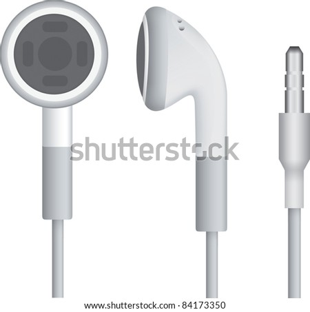 Headphones isolated over white background - stock vector