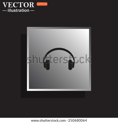 Headphones. Musical accessory,   vector illustration, EPS 10