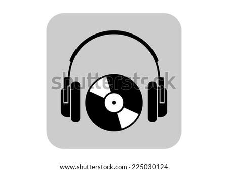 Headphones vector icon - stock vector