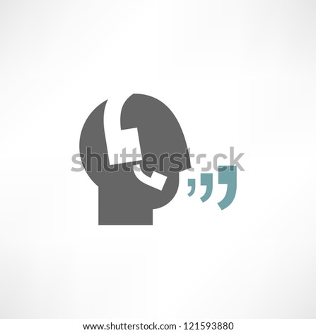 Headset Contact. Live Help. Support icon. Vector - stock vector